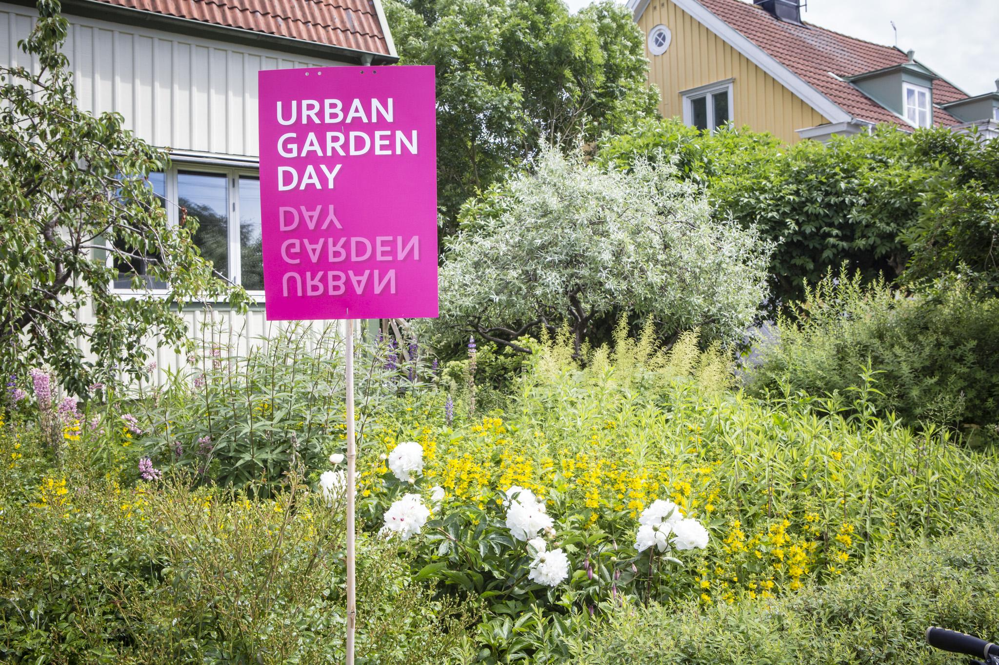 UGD-skylt vid Göterlings trädgård. UGD 2019. Foto Will Rose.
